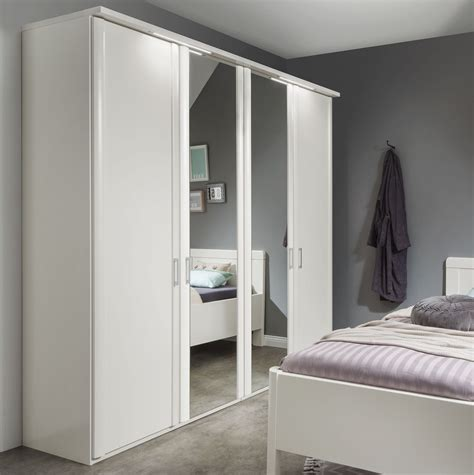weisser kleiderschrank günstig wei 223 er kleiderschrank mit spiegel g 252 nstig calimera