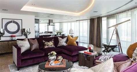 Living Room With Purple Sofa Ultra Violet Home Decor Pantone S Color Of The Year 2018 Homesthetics Inspiring Ideas For