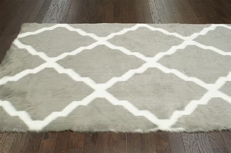 Grey Faux Sheepskin Rug beatrice faux sheepskin rug in gray rosenberryrooms