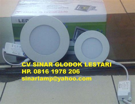 light led series lu led downlight bulat tipis 12w dan 6w fantas led