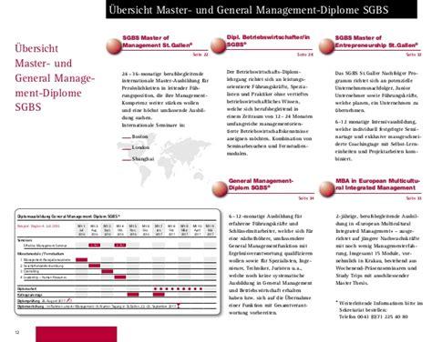 Bs And Mba Boston by 2016 2017 Berufsbegleitende Ausbildungen Mba Diplome