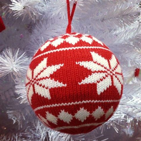 knitted christmas decorations natal pinterest