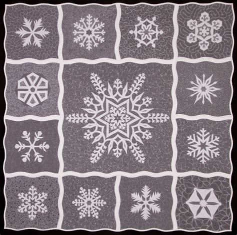 Snowflake Quilting Design by The Free Motion Quilting Project Whoo Hoo For Winter