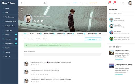 themes in facebook profile 18 best wordpress bbpress forum and community themes in