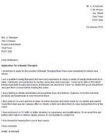 beauty therapist cover letter example cover letters and