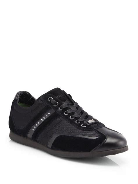 hugo sneaker shoes by hugo stiven lowtop sneakers in black for