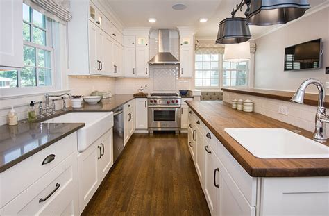 Galley Kitchen Island Updated Farmhouse Kitchen Integrates Butler S Pantry And