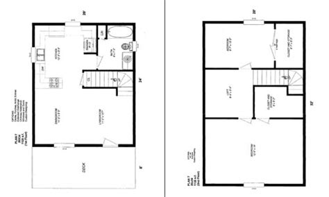 Small House Plans 20 X 24 Cabin Floor Plans