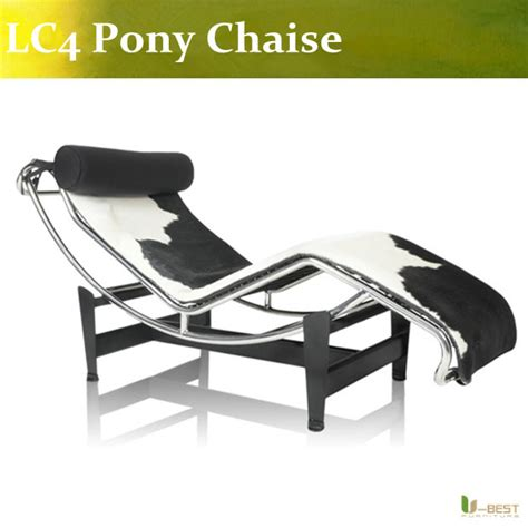 black and white chaise lounge chair u best high quality pony lc4 le corbusier chaise lounge