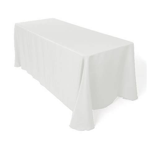 table with white tablecloth tablecloths 171 categories 171 mypartyshop