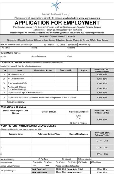 7 employment application template word cv simple pertaining to