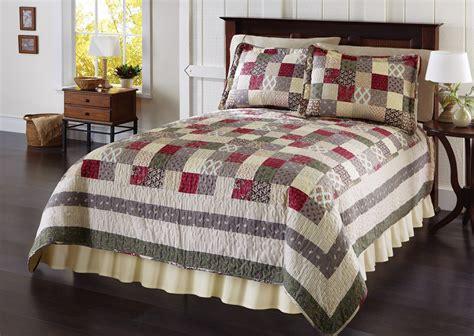 Patchwork Quilt Bedspread - patchwork bedding set quilted bedspread shams