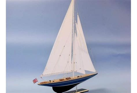 America's Cup Velsheda J Class Wooden Sailboat Model