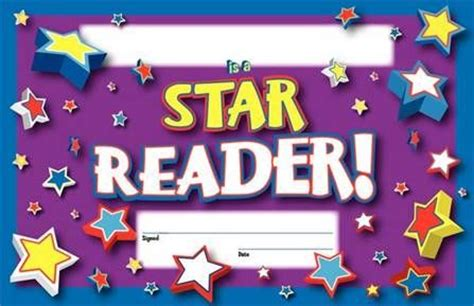 reading award certificate  reward reading accomplishment library supplies singapore