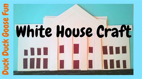 the white house for kids how to make the white house easy election day craft for kids youtube