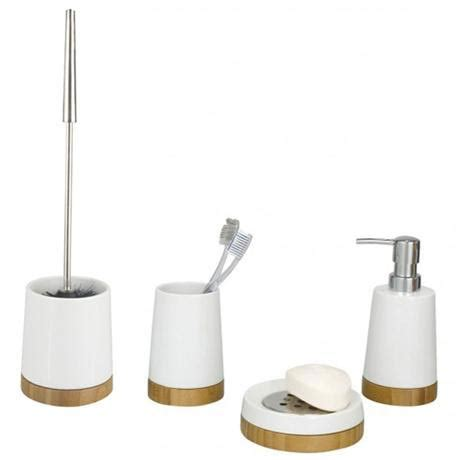 bamboo bathroom set wenko bamboo ceramic bathroom accessories set at victorian