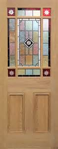 9 pane style stained glass doors