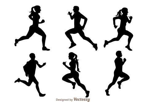 silhouette vector running silhouette vectors download free vector art
