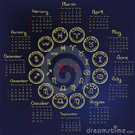 Calendrier Horoscope Calendrier 2012 D Horoscope Avec Les Signes Zodiacaux