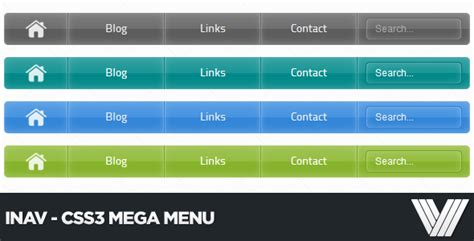 html layout left menu top 10 premium css3 and html5 mega menus designmodo