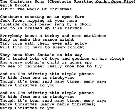 the christmas song by garth brooks lyrics