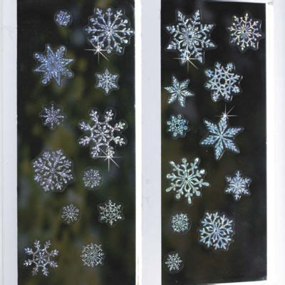 sparkly snowflake window christmas decorations pack of 51
