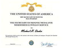meritorious service medal citation template of defense meritorious civilian service award