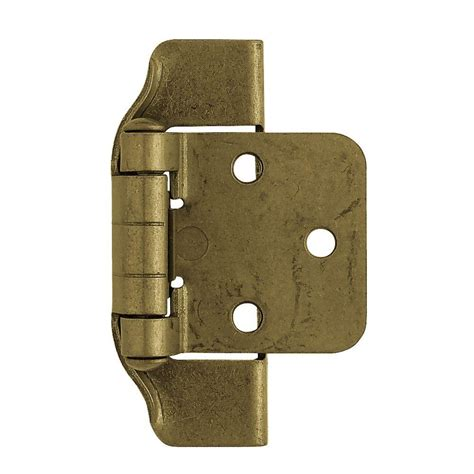 semi concealed cabinet hinges liberty 1 2 in antique brass semi wrap overlay hinge 1