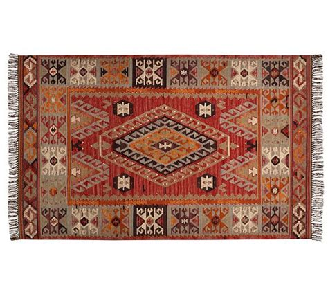 Outdoor Kilim Rug Cyndy Kilim Recycled Yarn Indoor Outdoor Rug Pottery Barn
