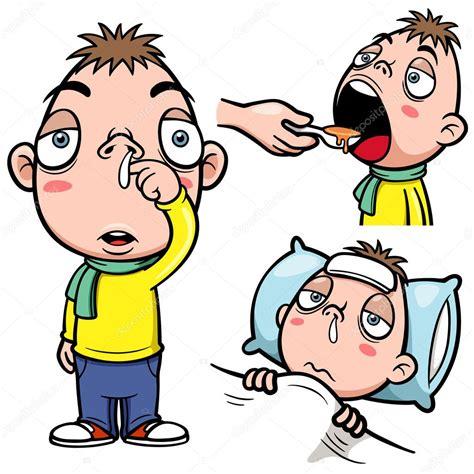 imagenes comicas de un enfermo dibujos animados de ni 241 o enfermo vector de stock
