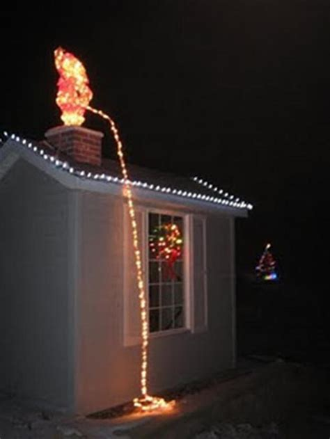 santa peeing off a roof funny christmas decorations