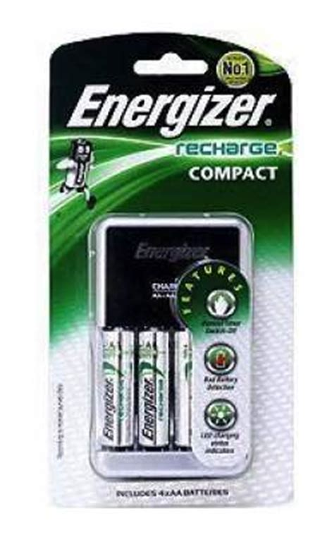 Dijamin Charger Energizer Recharge Compact Aa Aaa 9v energizer compact charger for aa aaa 9v includes 4x aa energizer chcc