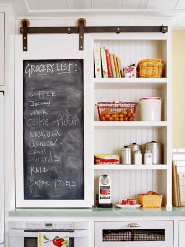 sliding chalkboard barn door for the kitchen cabinet decoist 12 design ideas for a colorful retro kitchen in kitchen