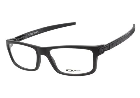Kacamata Original Frame Oakley Currency Satin Black oakley currency ox8026 01 satin black eyeglasses are a sure bet this frame is the of its