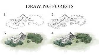 how to draw a map how to draw forests fantastic maps