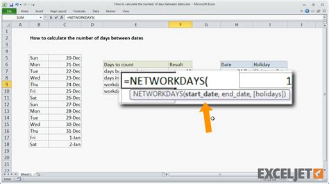calculator number of days excel tutorial how to calculate the number of days