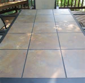 Patio Tile Table Acanthus And Acorn Outdoor Room Budget Version