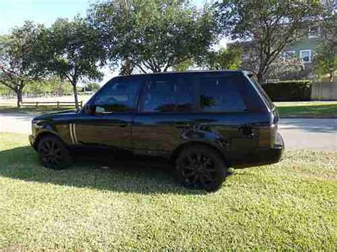 range rover truck black find used 2003 land rover range rover blacked out clean fl