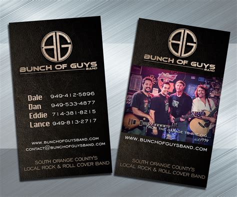 rock band business card templates rock band business cards image collections business card