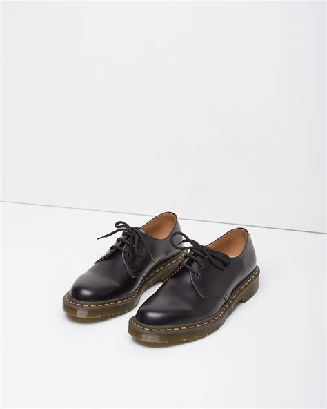 comme des garcons shoes mens lyst comme des gar 231 ons dr martens vintage 1461 shoe in