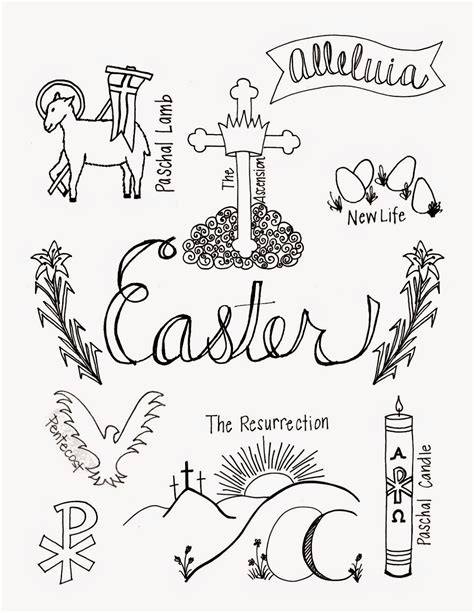 coloring pages of christian symbols what easter looks like coloring page with symbols of