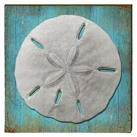 Wanddekoration Aus Holz 721 by Sand Dollar Printed On Rustic Pine Boards