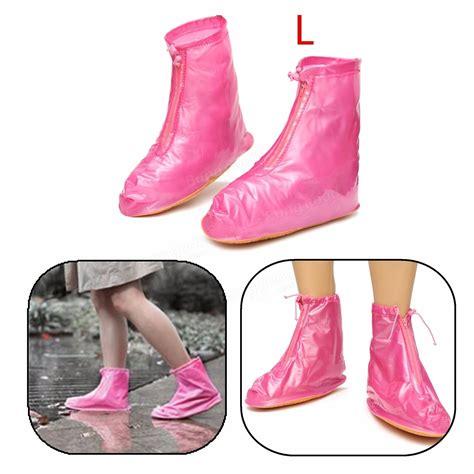 Waterproof Size Xl 55 Inch s m l xl size waterproof shoe covers flattie rainproof zip rubber at banggood