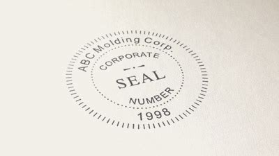 company seal template embossers embossing seals custom embossing sts
