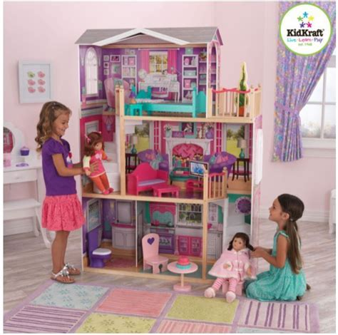 dolls play house jumbo furniture dollhouse american girl tall doll play house large mansion dolls ebay