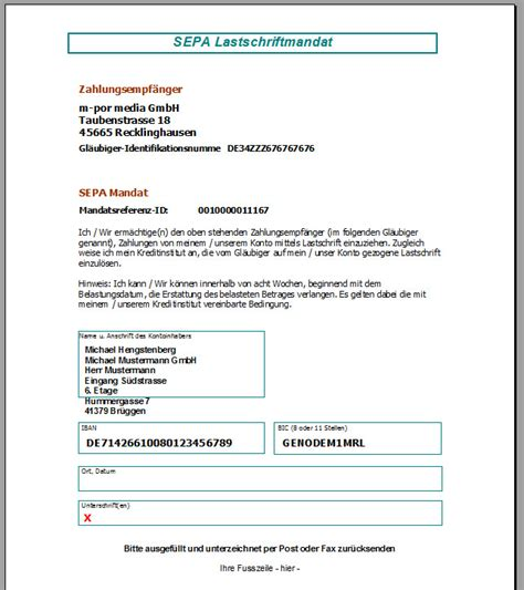 Word Vorlage Sepa Zahlschein Faktura Xp Screenshots Faktura Xp 174 2017