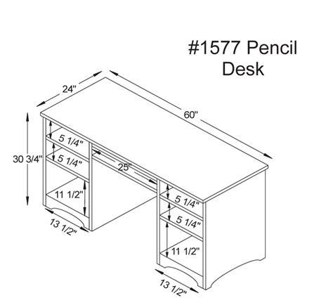 desk measurements woodbury pencil desk ohio hardwood furniture