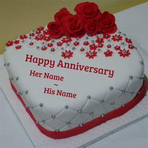 Wedding Anniversary Cake With Name by Anniversary To Abhinav Sir Best Image Hd