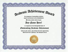 Academic Award Certificate Template academic achievement award certificate recognition gift ebay