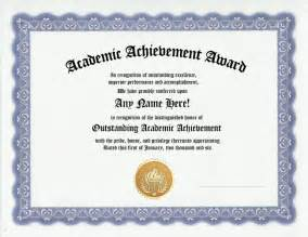 Academic Achievement Certificate Template by Academic Achievement Awards Certificates